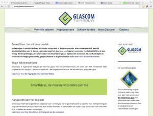 Glascom Tuinbouw website